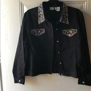 Step In Style Black Denim Jacket